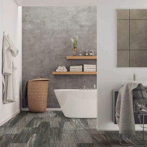 Bathroom view with Vinyl flooring | Mill Direct Floor Coverings