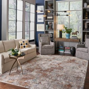 area rug in modern living area | Mill Direct Floor Coverings